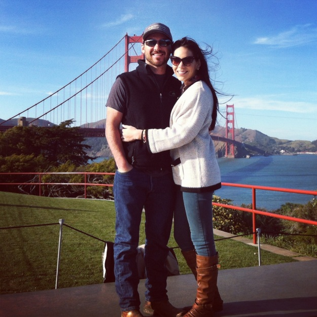 Hubs & I in front of the Golden Gate.  It was a gorgeous day in San Fran.