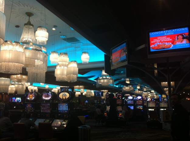 A casino/hotel in Reno.  Aren't those chandeliers amazing?