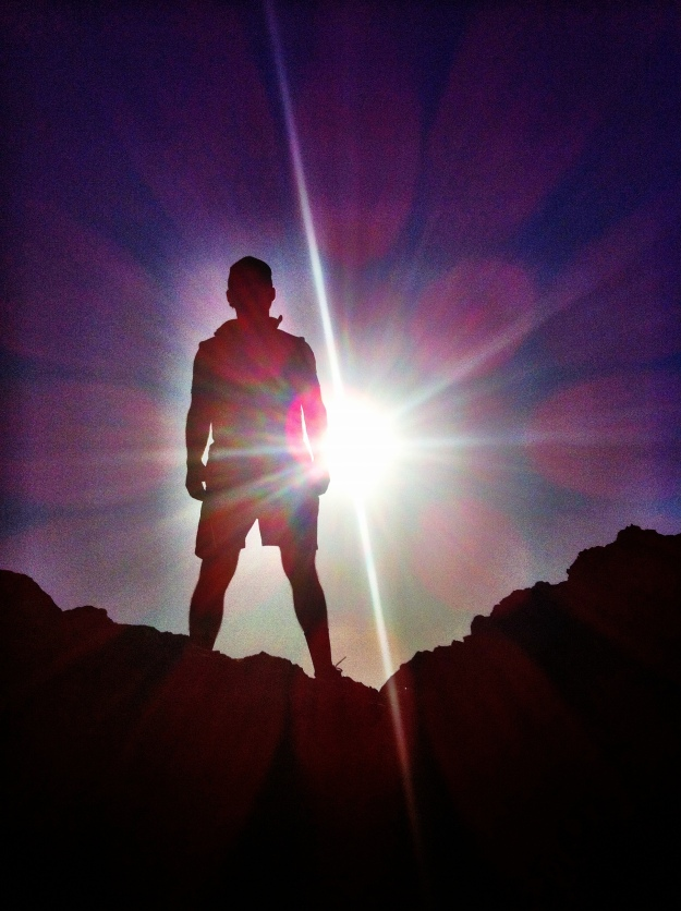 A sweet picture I took of my husband while we were climbing rocks on the beach.  The sun was shining perfectly behind him so that all I could see in the picture was his silhouette!  I thought it was worth capturing :)